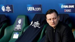 Тренер сборной России (U-21) Михаил Галактионов после матча против сборной Дании (U-21) на ЧЕ-2021