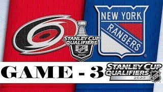 Carolina Hurricanes vs New York Rangers | Aug.04, 2020 | Best of 5 | Game 3 | NHL 2019/20 | Обзор