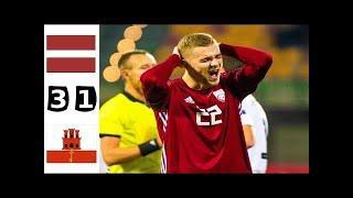 ???? Латвия - Гибралтар 3-1 - Обзор Отборочного Матча Чемпионат Мира 01/09/2021 HD ????