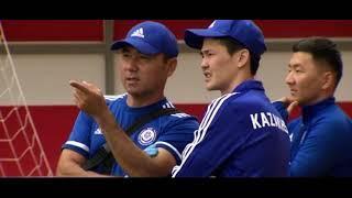 Тренировка молодёжной сборной Казахстана по футболу перед игрой с Бельгией.