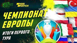 EURO2020 Обзор матчей первого круга.