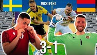 Гол Бичахчяна и сейв Юрченко. Швеция 3-1 Армения