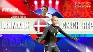 Czech vs Denmark Fifa 21 #czechrepublic #denmark #euro2020