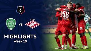 Highlights Akhmat vs Spartak (0-1)   RPL 2021/22