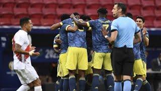 Обзор матча Колумбия - Перу - 3:2. Copa America-2021. Матч за третье место