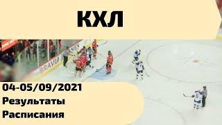 Хоккей Чемпионат КХЛ 04-05/09/2021. Результаты, таблица.