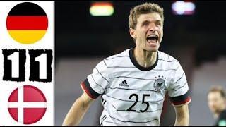 Германия - Дания 1-1 Обзор Матча Товарищеский Матч 02.06.2021