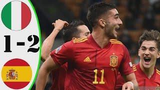 Италия vs Испания 1:2 Обзор Матча | Опасные Моменты И Голы Полуфинал Лига наций УЕФА, 2021 HD