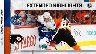 Vancouver Canucks vs Philadelphia Flyers | Oct.15, 2021 | Game Highlights | NHL 2022 | Обзор матча