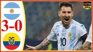 Argentina vs Ecuador 3−0 - Extended Highlights & All Goals 2021 HD