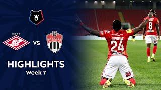 Highlights Spartak vs FC Khimki (3-1)   RPL 2021/22