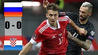 Россия - Хорватия 0-0 Обзор Матча 01/09/2021 HD