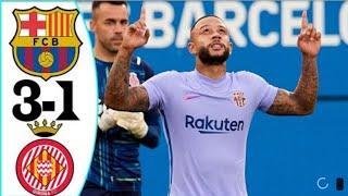 Барселона - Жирона 3-1 все голы и моменты матча