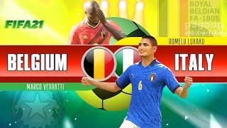 Belgium vs Italy  Fifa 21 #Italy #belgium #euro2020