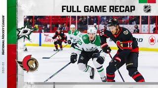 Dallas Stars vs Ottawa Senators | Oct.17, 2021 | Game Highlights | NHL 2022 | Обзор матча