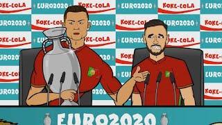 Реакция футболистов на результаты 1/8 ЕВРО-2020 | Реакция Роналду, Кейна, Левандовски и других