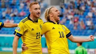 Швеция забивает гол в ворота сборной Украины и выравнивает сщет в матче