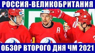 Хоккей ЧМ 2021. Россия-Великобритания. Обзор шести матчей второго дня на чемпионате мира по хоккею.