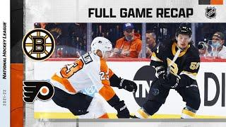 Boston Bruins vs Philadelphia Flyers   Oct.20, 2021   Game Highlights   NHL 2022   Обзор матча