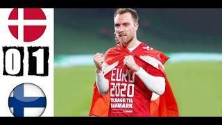Дания и Финляндия 0-1 Обзор Матч Евро 2021
