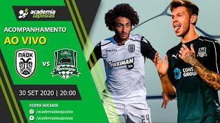 PAOK vs Krasnodar - Champions League   Acompanhamento ao Vivo