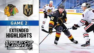 Chicago Blackhawks vs Vegas Golden Knights R1, Gm2 Aug 13, 2020 HIGHLIGHTS HD