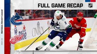 Vancouver Canucks vs Detroit Red Wings | Oct.16, 2021 | Game Highlights | NHL 2022 | Обзор матча