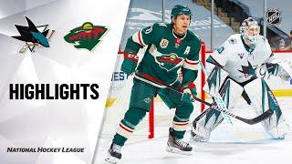 San Jose Sharks vs Minnesota Wild | Jan.22, 2021 | Game Highlights | NHL 2021 | Обзор матча