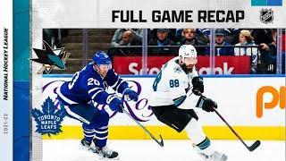 San Jose Sharks vs Toronto Maple Leafs | Oct.22, 2021 | Game Highlights | NHL 2022 | Обзор матча