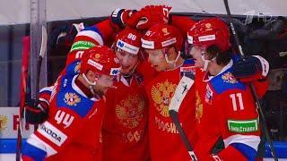 Сборная России по хоккею одержала вторую победу на Кубке Первого канала.