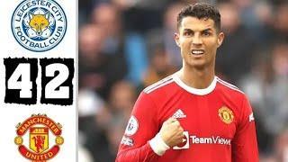 Лестер Сити  и  Манчестер Юнайтед 4:2 Обзор Матча Опасные Моменты И Голы 2021