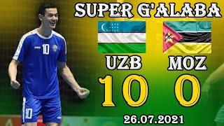SUPER G'ALABA! O'ZBEKISTON - MOZAMBIK 10-0. УЗБЕКИСТАН - МОЗАМБИК 10-0 ОБЗОР МАТЧА 26.07.2021
