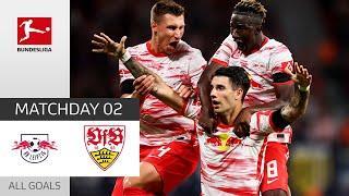 Szoboszlai Shines with a Brace!   RB Leipzig - VfB Stuttgart 4-0   All Goals   Matchday 2 – 2021/22