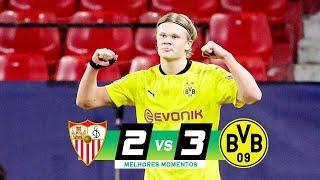 ???? Боруссия Дортмунд - Севилья 3-2 - Обзор Матча 1/16 Финала Лиги Чемпионов 17/02/2021 HD ????
