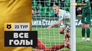 Все голы 23-го тура Тинькофф РПЛ