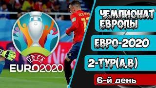Чемпионат Европы по Футболу. EURO 2020.Обзор 2-го тура.