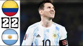 Колумбия - Аргентина 2-2 Обзор Матча Чемпионат Мира 2022 Квалификация 09.06.2021