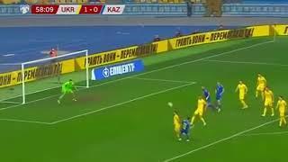 Украина 2:2 Казахстан // Обзор матча