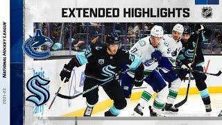 Vancouver Canucks vs Seattle Kraken | Oct.23, 2021 | Game Highlights | NHL 2022 | Обзор матча