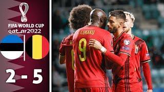 ???? Бельгия - Эстония 5-2 - Обзор Отборочного Матча Чемпионат Мира 02/09/2021 HD ????