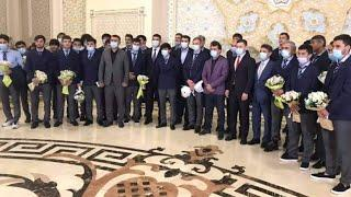 """Пешвози ИСТИКЛОЛ-ФУРУДГОХ-Meeting football players of """"Istiklol club Dushanbe"""" airport 02,05,2021"""