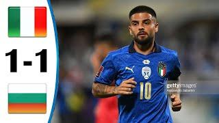 ???? Италия - Болгария 1-1 - Обзор Отборочного Матча Чемпионат Мира 02/09/2021 HD ????