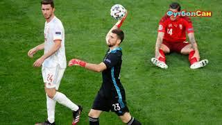 Швейцария - Испания 1:1 ЗОММЕР, пенальти 1:3 СИМОН Евро 2020