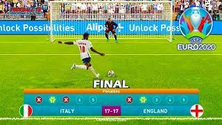 Italy vs England - Penalty Shootout - Final EURO 2020 - eFootball PES 2021