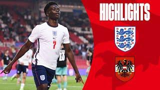 England 1-0 Austria | Saka Fires England to Victory Against Austria | Highlights