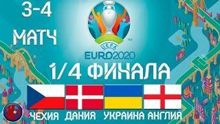 Футбол ЧЕМПИОНАТ ЕВРОПЫ ЕВРО 2020 ВСЕ ПАРЫ ПОЛУФИНАЛА РЕЗУЛЬТАТЫ РАСПИСАНИЕ