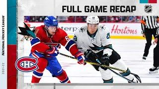 San Jose Sharks vs Montreal Canadiens   Oct.19, 2021   Game Highlights   NHL 2022   Обзор матча