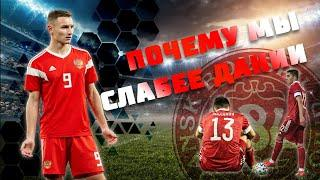 Вылет сборной | Россия - Дания | Молодёжный Евро
