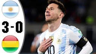 Аргентина - Боливия 3-0 все голы и моменты матча 2021