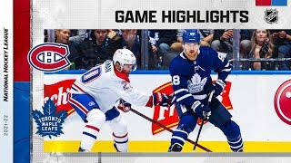 Montreal Canadiens vs Toronto Maple Leafs   Oct.13, 2021   Game Highlights   NHL 2022   Обзор матча